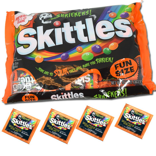 Skittles Shriekers Fun Size 10.72oz Bag