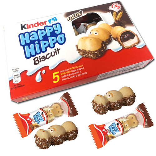 Kinder Happy Hippo Cocoa Biscuits 5 Count