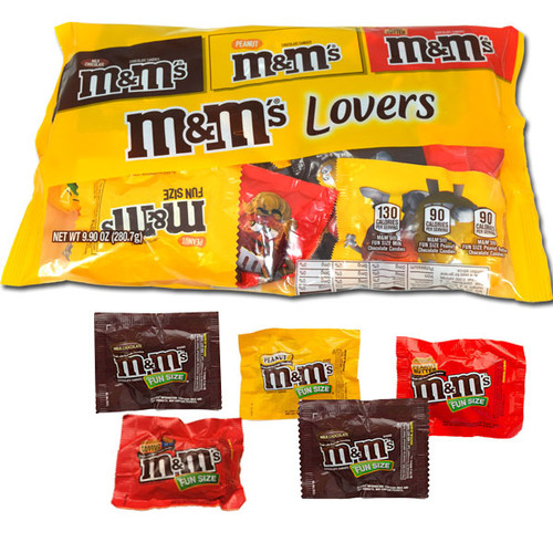 M&M's Lovers Fun Size Assortment 9.9oz Bag