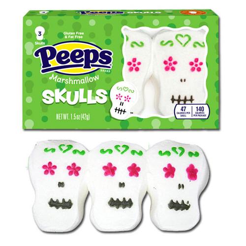 Marshmallow Peeps Skulls