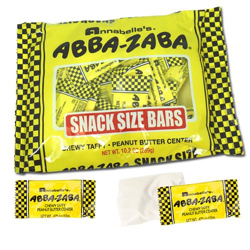 Abba Zabba Candy Bars Snack Size 10.2oz