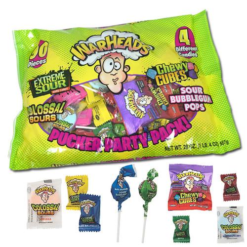 Warheads Pucker Packs Assortment Halloween 20oz Bag