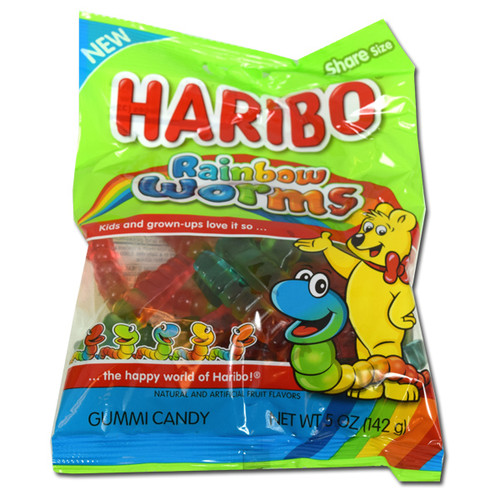 Haribo Rainbow Gummi Worms 5oz Bag