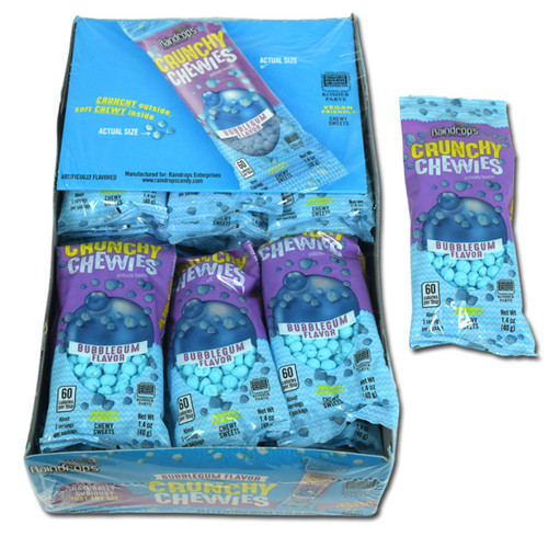 Crunchy Chewies Bubble Gum Flavor 24 Count