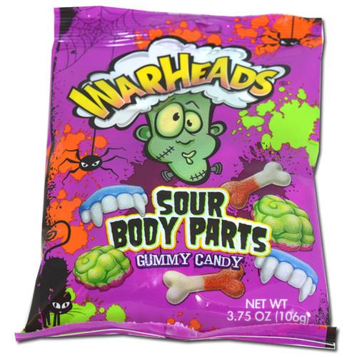 Warheads Gummy Body Parts 3.75oz Bag