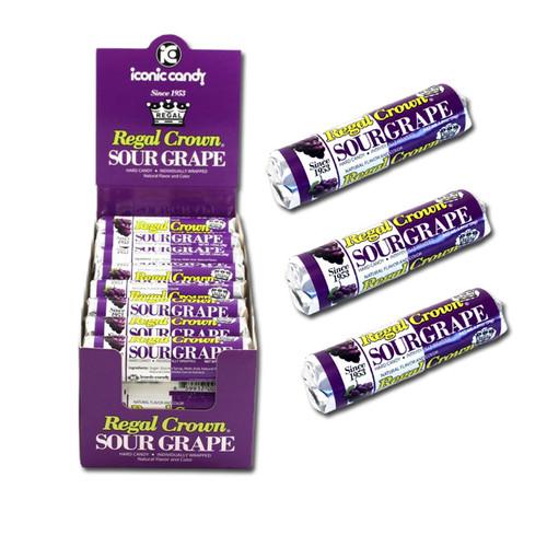 Royal Crown Sour Grape Rolls 24 Count