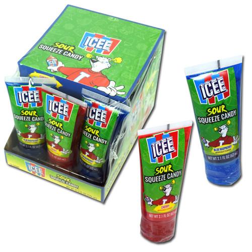 Icee Sour Squeeze Candy 12 Count