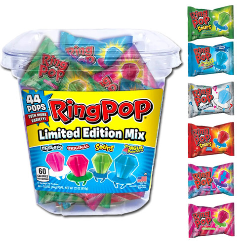 Ring Pops Assorted 44 Count Tub