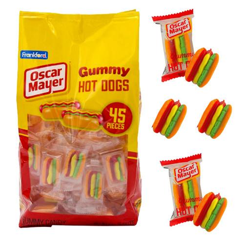 Oscar Mayer Gummy Hot Dogs 45 Count