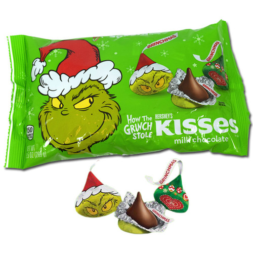 The Grinch Hershey's Kisses
