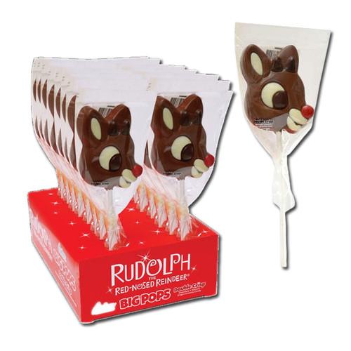 Rudolph Big Chocolate Lollipops
