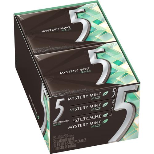 Five (5) Gum Sweet Mint Maze