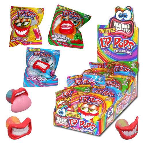 Twisted Lips Lollipops