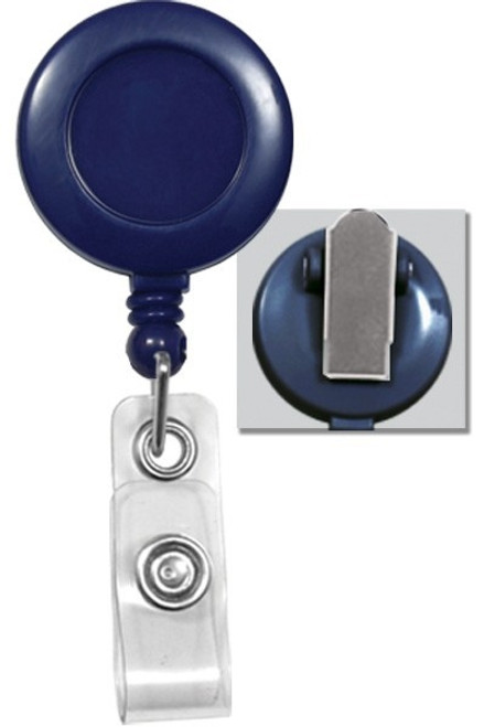 Round Badge Reel W/ Clear Vinyl Strap & Spring Clip 2120-47XX - QTY. 25