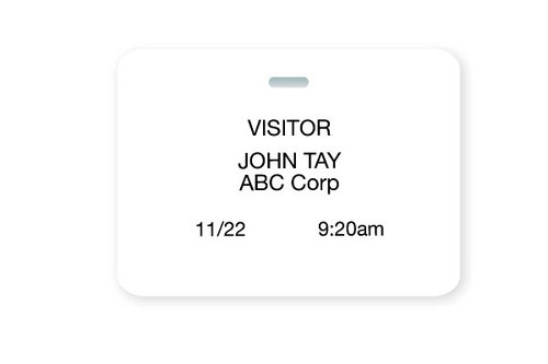 "03981 Thermal-printable Non-expiring Printable Clip-on Cardbadge 3"" X 4"". Pkg Of 1,000"