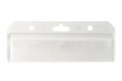 "1840-8000 Frosted Rigid Plastic Horizontal Half Card Holder, 3.38 x 2.12"" - Qty. 50"
