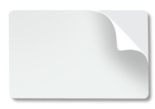 82266 HIDå¨ UltraCardå¨ CR-80 10 mil, Adhesive Paper Backed PVC Cards - Qty. Box of 500