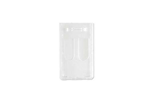 """1840-6550 Frosted Rigid Plastic Vertical 2-Card Access Card Dispenser, 2.28"""" x 3.6"""" - Qty. 50"""
