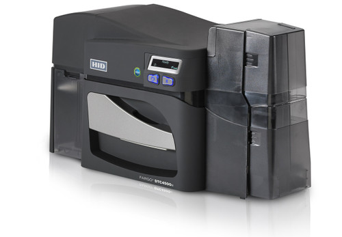 Fargo DTC4500e ID Card Printer with Magnetic Stripe Encoding - Dual-Sided - No Lamination