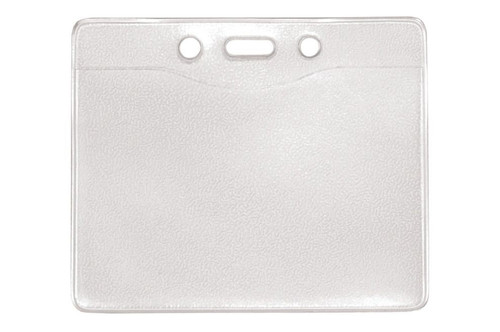 """1815-1000 Clear Vinyl Horizontal Badge Holder with Slot and Chain Holes, 3.3"""" x 2.5"""" - Qty. 100"""
