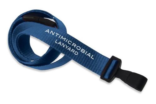 """5/8"""" (16 MM) Flat Anti-microbial Lanyard W/ Breakaway & """"No-twist"""" Wide Plastic Hook - QTY. 100"""
