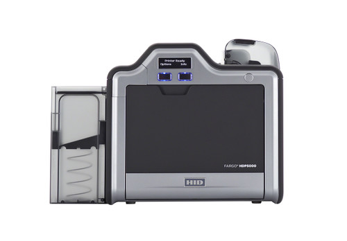 Fargo HDP5000 ID Card Printer with Magnetic Stripe Encoding - Single-Sided - No Lamination