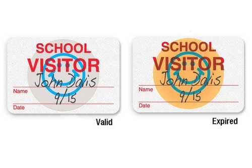 "08106 Manual School Badge ""School Visitor"" Pkg of 1000"