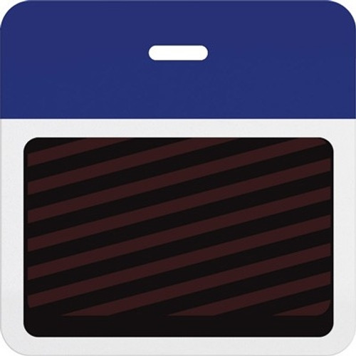 T5904A Thermal-printable Timebadge Clip-on Backpart. Half Day / One Day. Reflex Blue Bar W/ Slot Hole. Pkg Of 1000