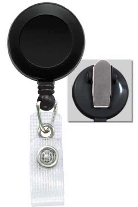 Badge Reel W/ Reinforced Vinyl Strap & Spring Clip 2120-475X - QTY. 25