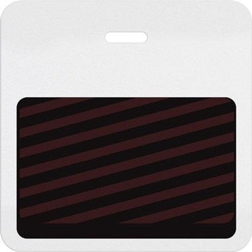 06027 Thermal-printable Half Day / One Day Timebadge Clip-on Backpart. Pkg Of 1000
