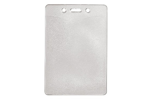 """1815-1300 Clear Vinyl Vertical Badge Holder with Slot and Chain Holes, 2.8"""" x 4"""" - Qty. 100"""