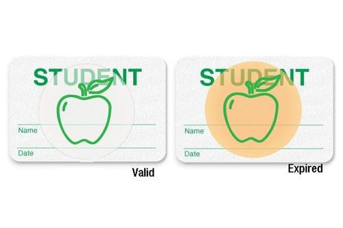 "08107 Manual School Badge""student"". Pkg Of 500"
