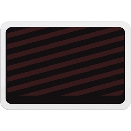 T6032A Adhesive expiring badge back with red bars. Pack of 1000