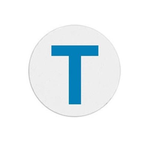 "T6134 Blue ""T"" Expiring Timespot Frontpart Indicator -one Day. Pkg Of 1,000"