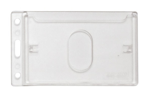 """1840-6500 Frosted Rigid Plastic Vertical 1-Card Dispenser with Thumb-Notch, 2.44"""" x 4.13"""" - Qty. 50"""