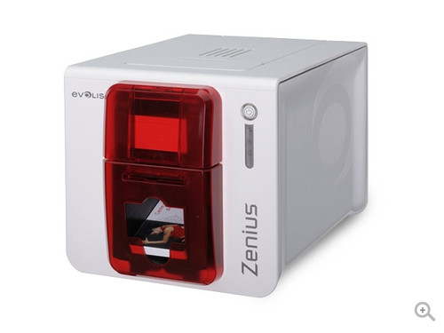 Evolis Zenius Classic Single-Side ID Card Printer - Fire Red