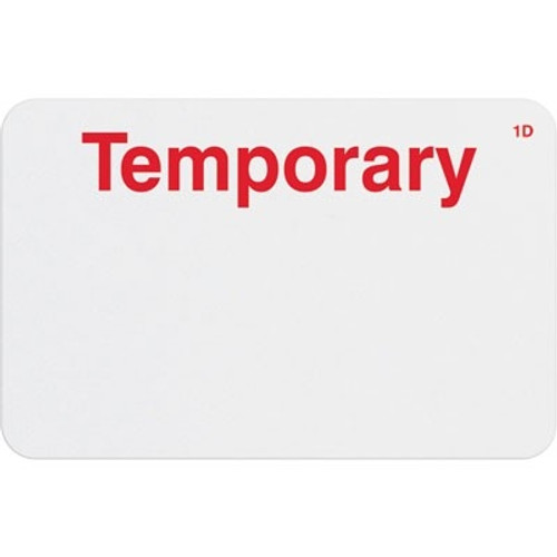 """T2004 Onestep Self-expiring Timebadge Adhesive """"Temporary"""" One Day- Manually Issued. Pkg Of 500"""