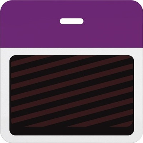 T5907A Thermal-printable Timebadge Clip-on Backpart. Half Day / One Day.. Pantone Purple Bar W/ Slot Hole. Pkg Of 1000
