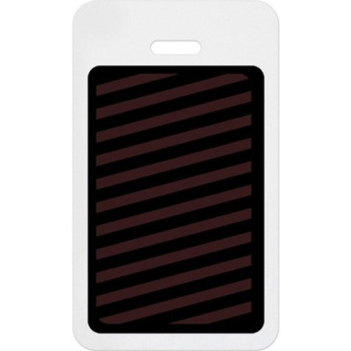 T6054A Manual Expiring Timebadge Clip-on Backpart- Vertical- Half Day / One Day. Pkg Of 1000