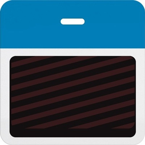 T5906A Thermal-printable Timebadge Clip-on Backpart. Half Day / One Day. Process Blue Bar W/ Slot Hole. Pkg Of 1000