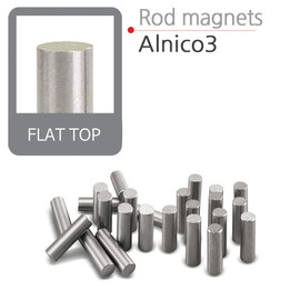 "Alnico 3 Rod Magnets Flat Top (.187"")"