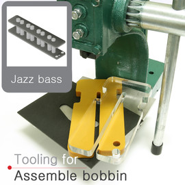 Jazz bass bridge style bobbin tooling