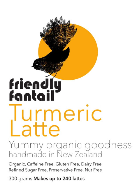 Friendly Fantail Organic Turmeric Latte 300g Cafe Pack