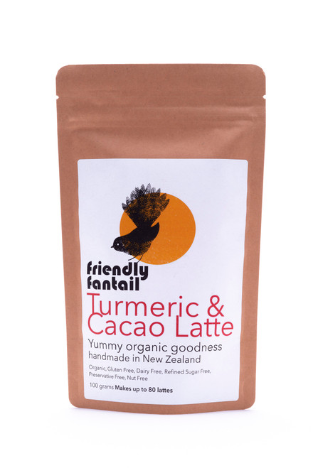 Friendly Fantail Turmeric & Cacao Latte mix 100g