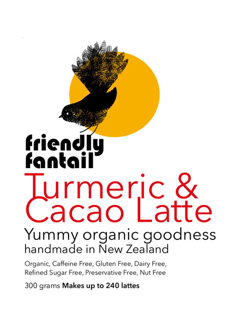Friendly Fantail Organic Turmeric & Cacao 300g Cafe Pack