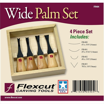 Flexcut FR404 Wide-Format Palm Set