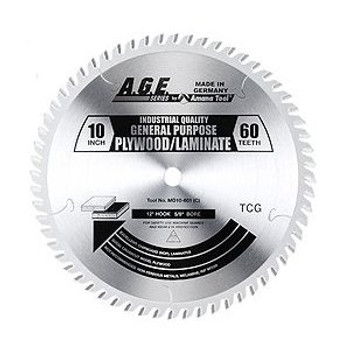 "Amana MD10-601C 10"" x 60t TCG Plywood/Laminate Blade 5/8 Bore"