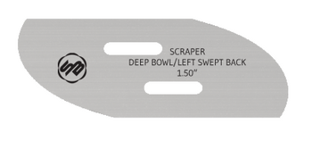 Stuart Batty 1.5 inch Swept Back Left Conventional Scraper Blade