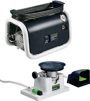 Festool SYS VAC Vacuum clamping Set, includes pump and foot pedal