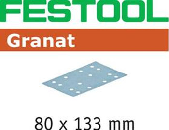 Festool Granat P80 Grit Abrasives 80x133mm